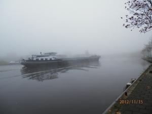 Leendert vaart in de mist